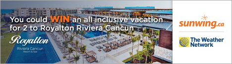 Enter for a chance to win a vacation for 2 to Riviera Maya